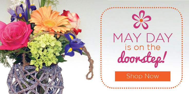 Flowers for May Day!  Carry on the tradition with gorgeous spring blooms, perfect for the doorstep.