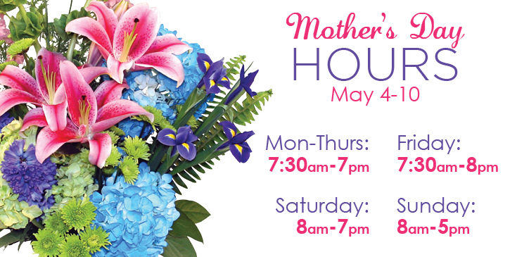 Special Hours for Mother's Day at Stadium Flowers